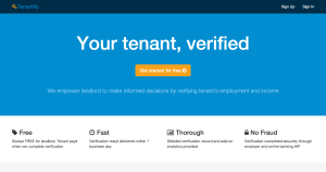 Verify tenant income and employment